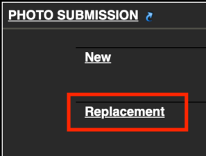 replacement link for photo submission
