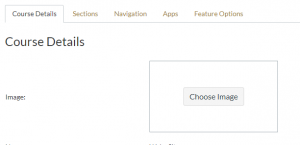 Canvas Course Settings window