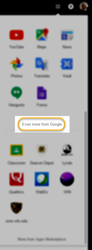 """""""Even more from Google"""" link"""