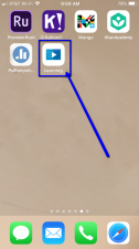 Mobile phone screen showing LinkedIn Learning app icon