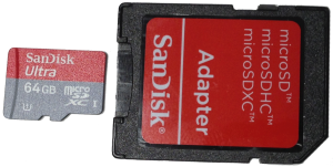 Micro SD Card with Adapter