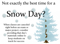 Snow day class poster
